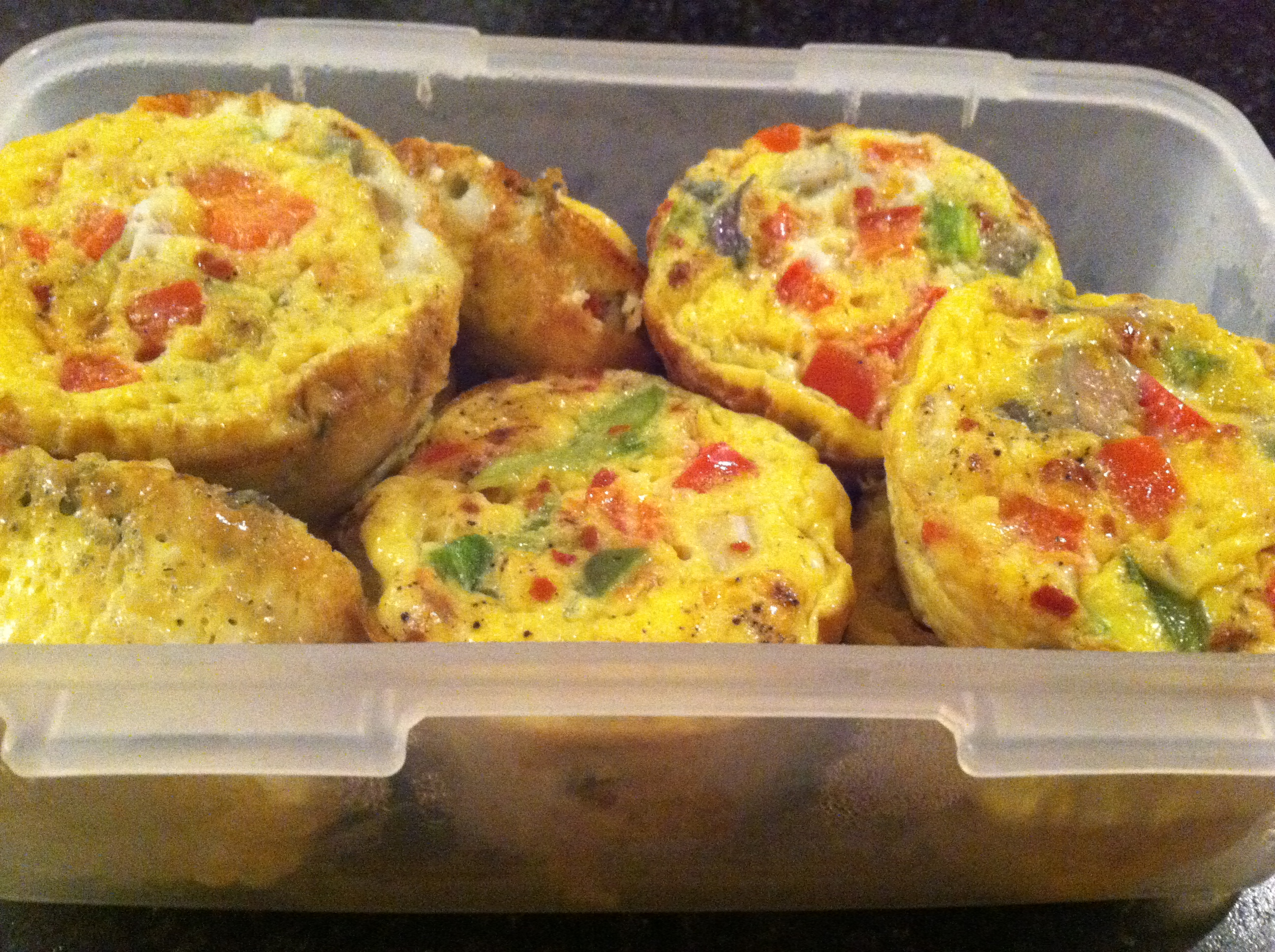 Scrambled egg muffins!