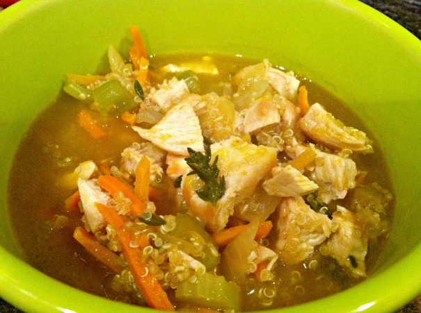 chicken quinoa soup race recovery meal easy