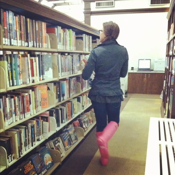pink boots library