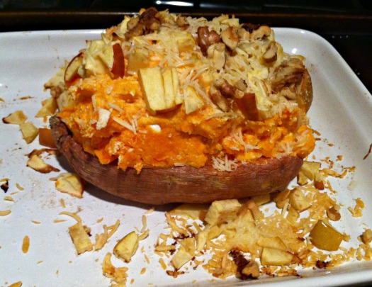 sweet potato stuffed sweet potato cottage cheese