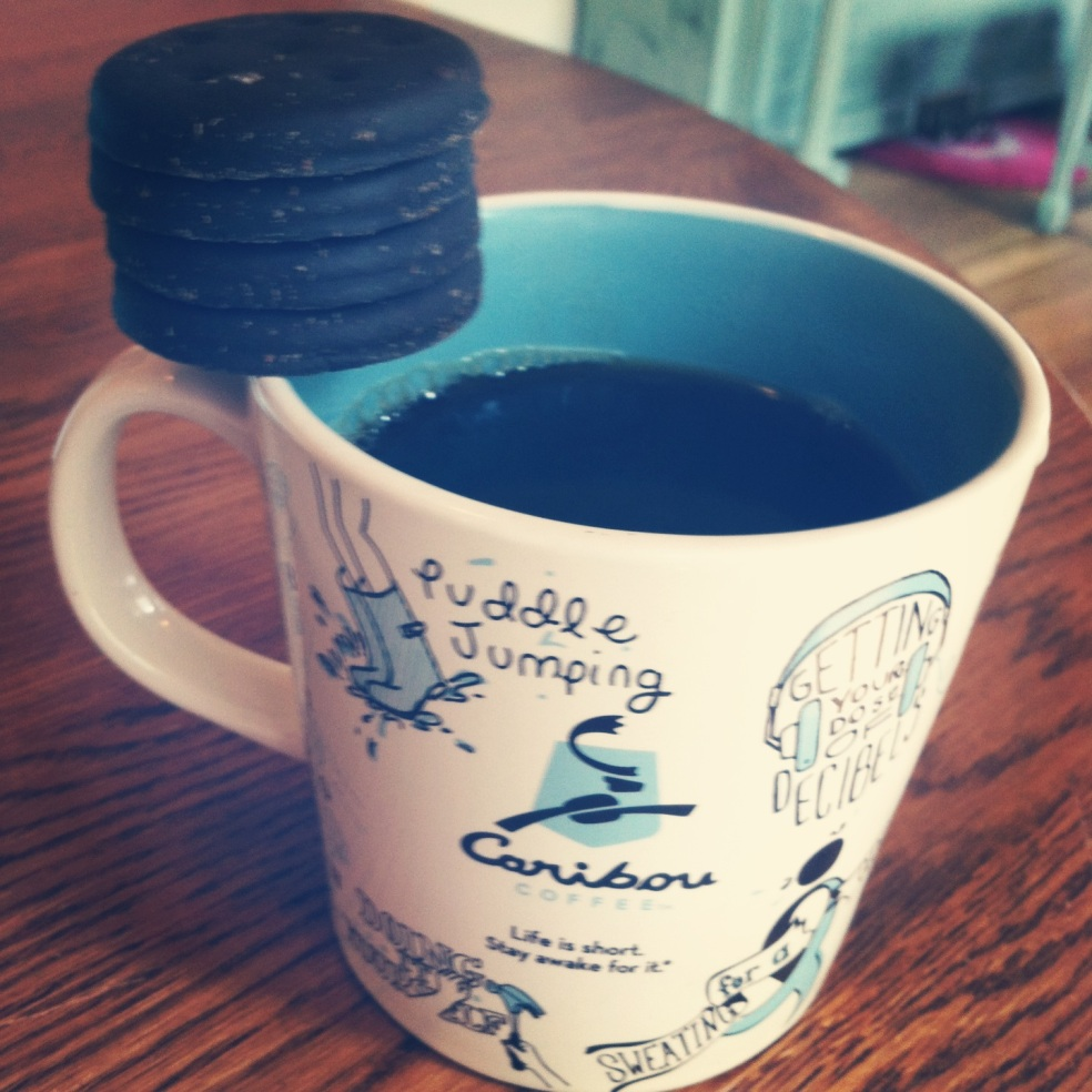 coffee and thin mints