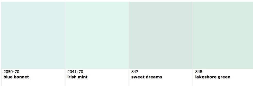 mint paint colors