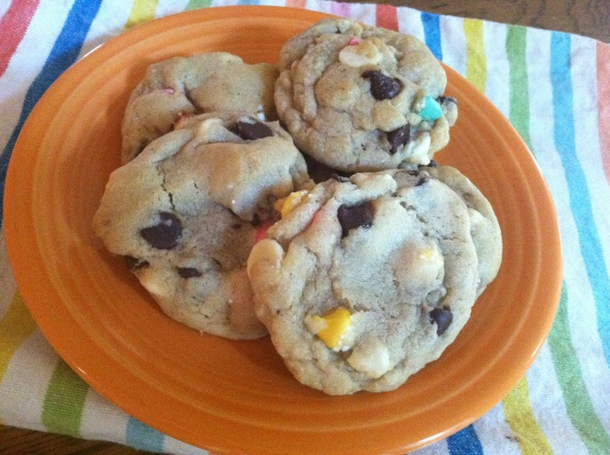 petite mint double chocolate chip cookies