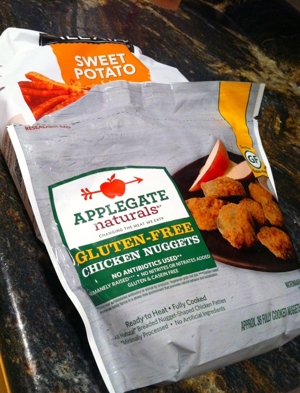 alexia sweet potato fries and applegate chicken nuggets