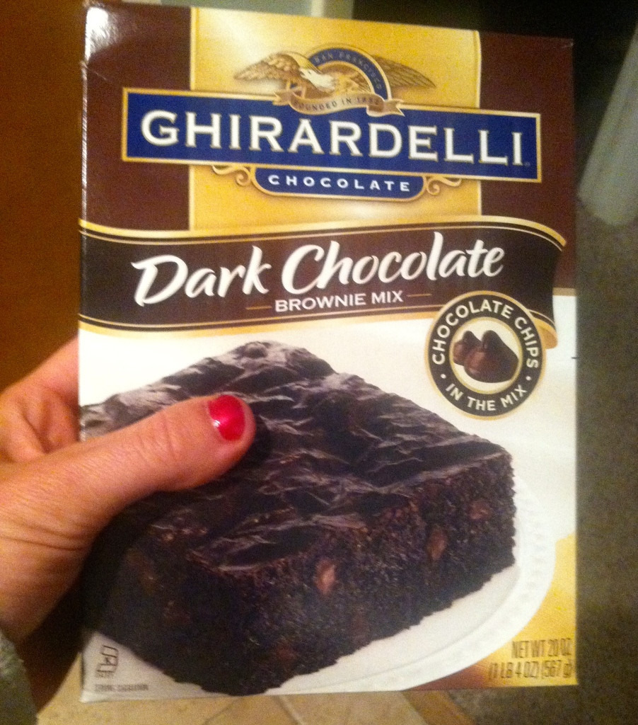 dark chocolate ghiradelli brownies