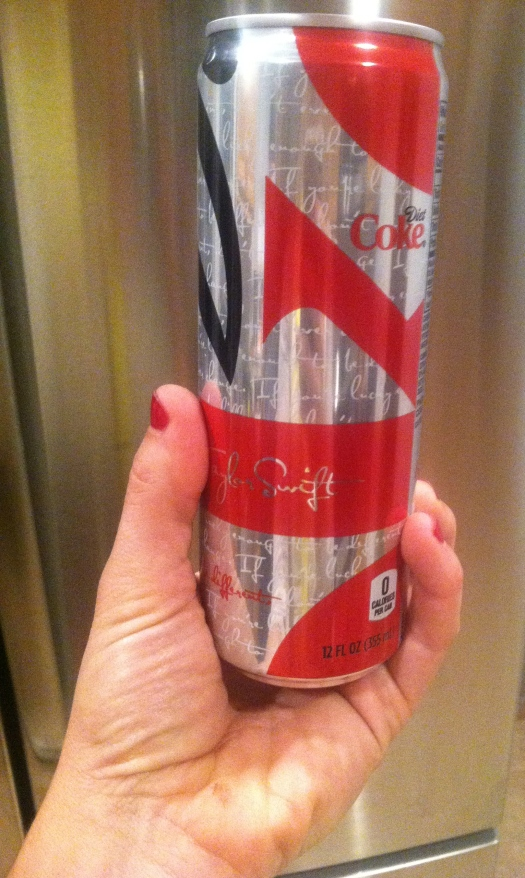 diet coke in the skinny can taylor swift