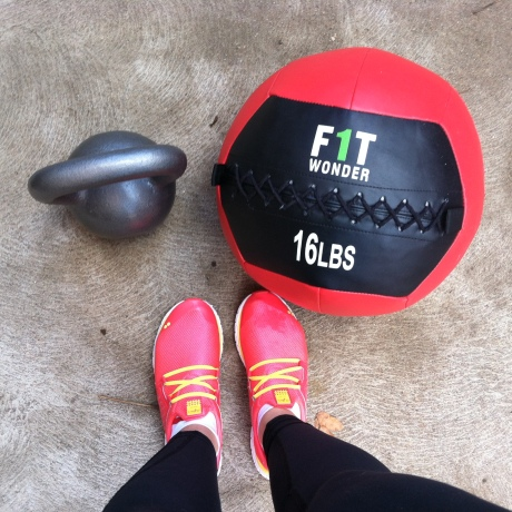 fringesport kettlebell and wall ball