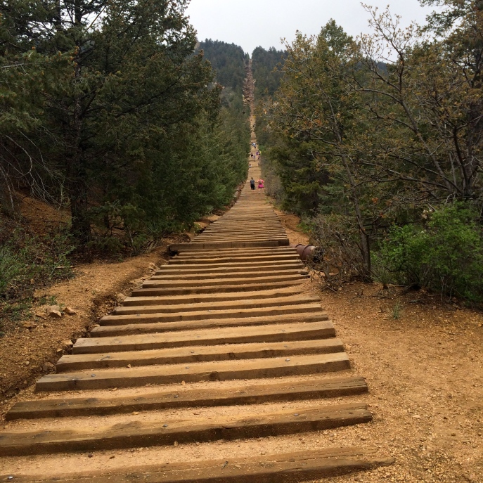 the view going up manitou incline