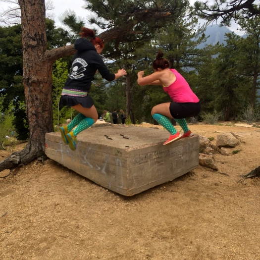 box jumping top of manitou incline