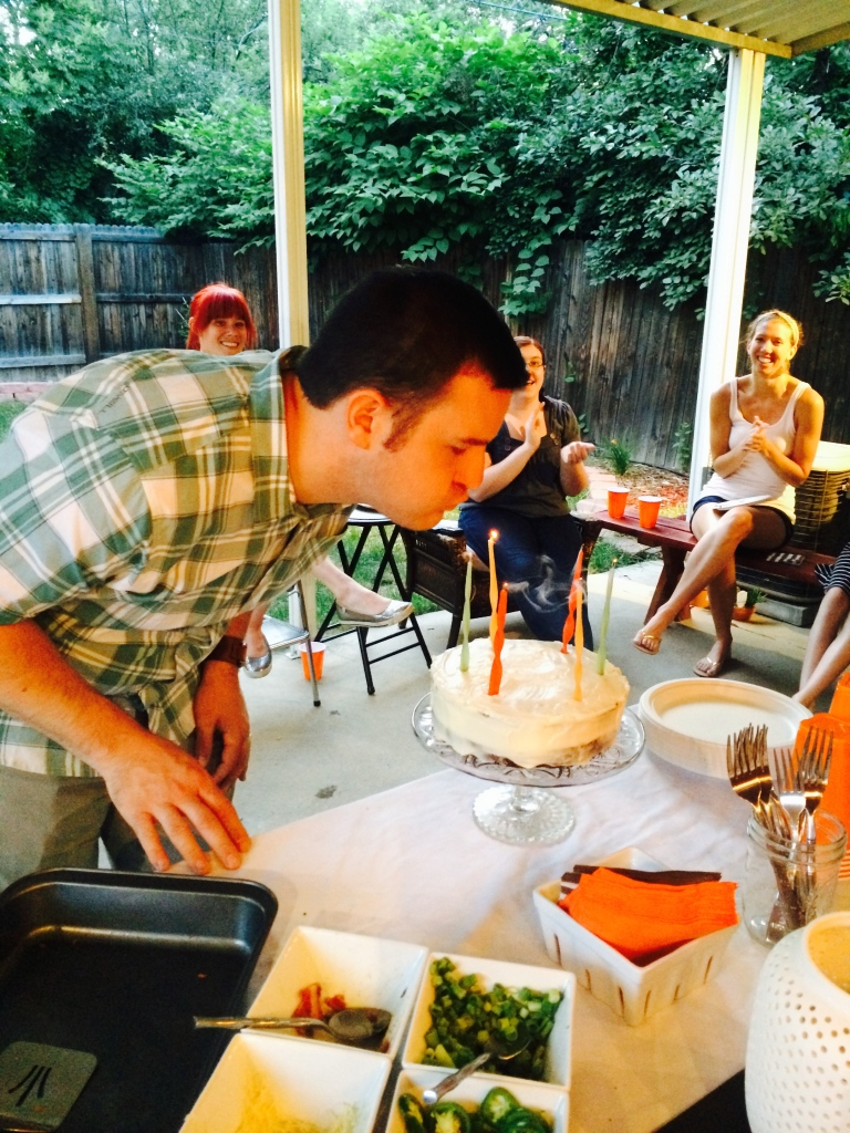 kevin blowing out the candles 33