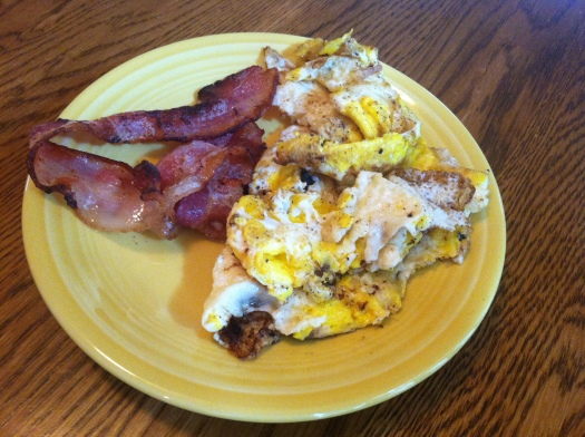 breakfast bacon and eggs