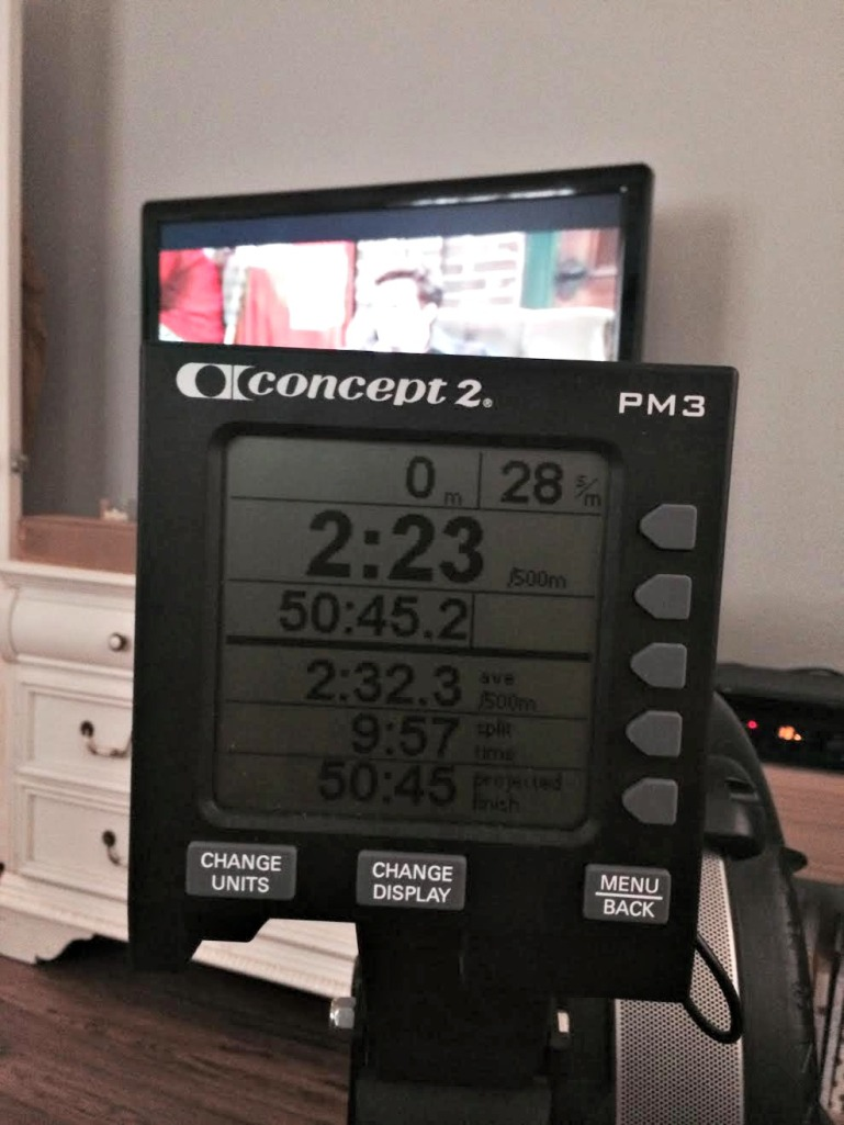 rowed a 10k