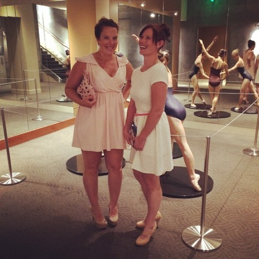 corrie and anna at the ballet