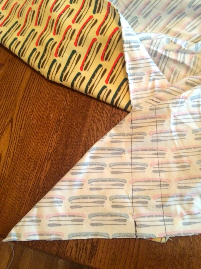 sewing crib fitted sheet canoes
